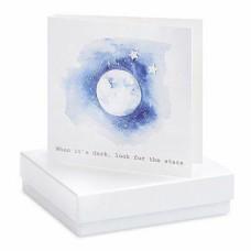 Moon Card Star Stud Earrings