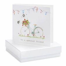 Special Friend Bird Silver Earrings Boxed