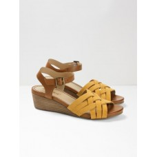 Carrie Mid Heel Comfort Wedge Yellow