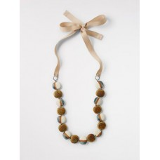Ceramic Pebble Necklace Safari Natural ONE SIZE