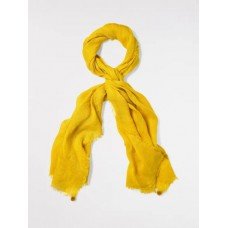Slubby Plain Linen Scarf African Yellow  ONE SIZE