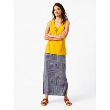 b436909b9c Ekon Jersey Maxi Skirt Cape Blue Print