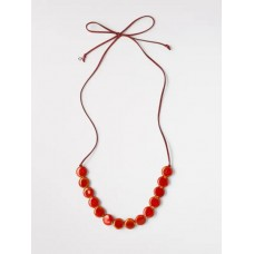 Cord & Ceramic Necklace Dreamy Orange ONE SIZE was £22.50