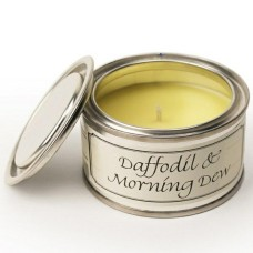 Paint Pot Candle Daffodil & Morning Dew