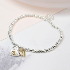 Silver Plated Double Heart Bracelet