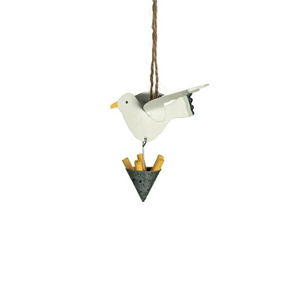 Seagull Steals Chips Hanging Decoration