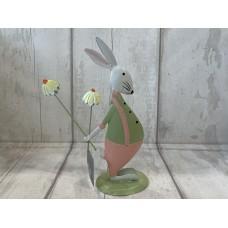Tin Bunny Standing Decoration