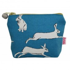 LUA Mini Purse Turq Hares