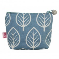 LUA Mini Purse Blue Leaf