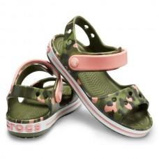 CROCS Kids Crocband Seasonal Graphic Sandal Melon RRP £24.95