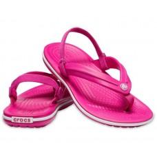CROCS Kids Crocband Strap Flip Candy Pink