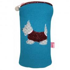 LUA Turquoise Scottie Dog Glasses Case