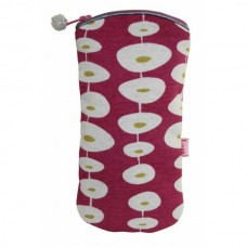Zipped Glasses Case Raspberry oval link