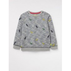Rex Jersey Sweat Grey Stripe