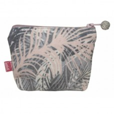 LUA Mini Purse Palm Grey Pink