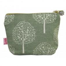 LUA Mini Zipped Purse Green Mulberry Tree