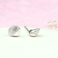 Sterling Silver Missmatched Shell Studs