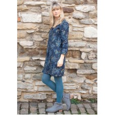BRAKEBURN Florence Pleat Dress Navy Was £42.95