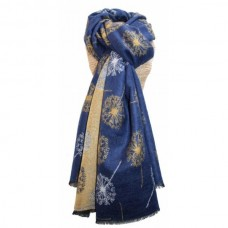 Terry Dandelions Scarf Yellow Navy