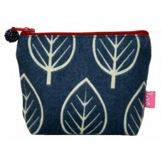 LUA Mini Purse Dark Blue Leaf