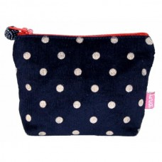 LUA Mini Purse Corduroy Blue with Spots
