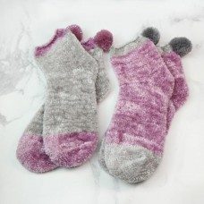 Chenille Cosy Socks 2 pack Pink