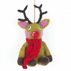 FELT SO GOOD Reindeer with knitted scarf