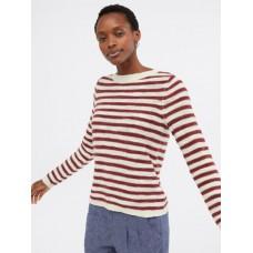 WHITE STUFF Artisan Stripe Jumper Red Mix