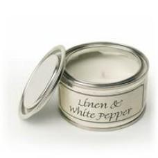 Paint Pot Candle Linen white pepper