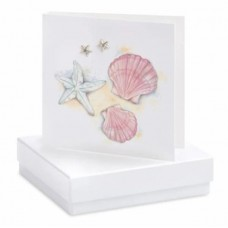 Boxed Starfish Stud Earrings on greetings card