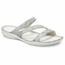 CROCS Womens Swiftwater Cardio Wave Sandal Pearl White Was £29.95