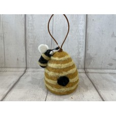 Hanging Wool Beehive with Bee