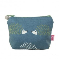 LUA Mini Purse Hedgehogs Teal Blue