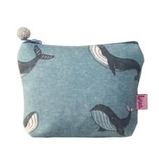 LUA Mini Purse Whale Pale Blue
