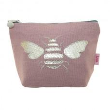 LUA Gold Bee Cosmetic Purse Blush Pink
