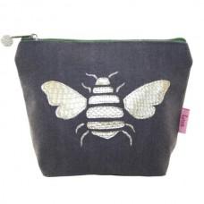 LUA Gold Bee Cosmetic Purse Mocha