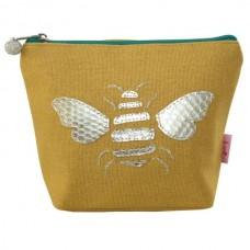 LUA Gold Bee Cosmetic Purse Ochre