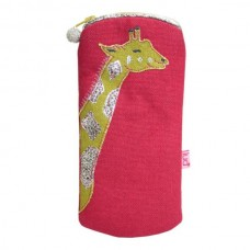 LUA Giraffe Glasses Purse Raspberry