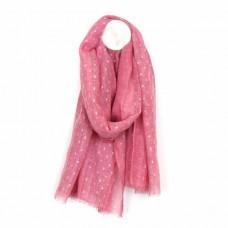Soft Washed Lurex Pink Scarf