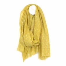 Soft Washed Lurex Yellow Scarf