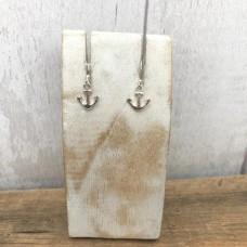 Sterling Silver Anchor Drop Earrings