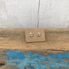 Sterling Silver Anchor Stud earrings