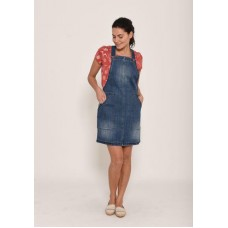 BRAKEBURN WOMENS DENIM PINAFORE DRESS   Was £49.95