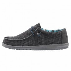 HEY DUDE SHOES WALLY  SOX CHARCOAL Was £49.95