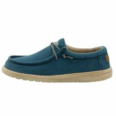 HEY DUDE SHOES WALLY  WASHED HYDRO BLUE  Was £49.95