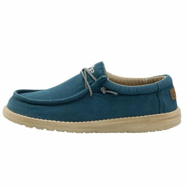 HEY DUDE SHOES WALLY  WASHED HYDRO BLUE  RRP £49.95