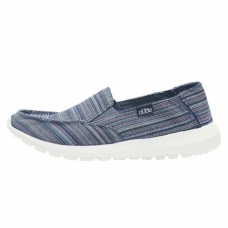 HEY DUDE SHOES AVA IBIZA STRIPE BLUE TEXTILE Was £39.95