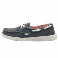 HEY DUDE SHOES LILY CLASSIC CANVAS NAVY RRP £42.50