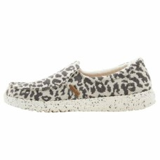 HEY DUDE SHOES MISTY CHEETAH GREY