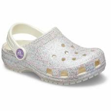 CROCS Kids Classic Glitter Clog Oyster
